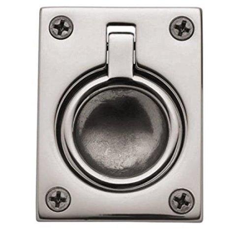 Baldwin 394056 Flush Ring Pull - Lifetime Satin Nickel