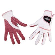 Professional High Quality Women Golf Gloves Golf Gift, White&Pink(#19)