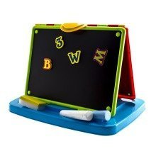 deAO All in One Kids Blackboard/Whiteboard Learning Easel