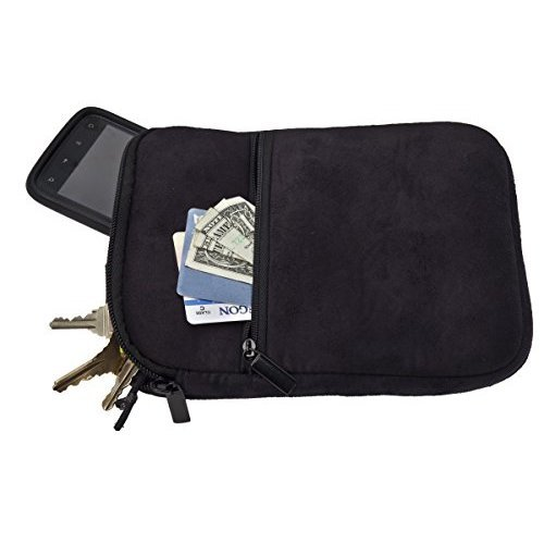 ProActive Sports Premium Suede Caddy Pouch (Black)