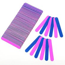 100 Pcs Disposable Nail Files Professional Beauty Care Double Sided Emery Boards Manicure Tools Salon Grit Nail Buffer Buffing