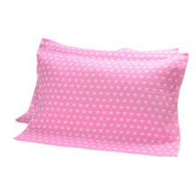 2 PCS Cotton Three Layer Thicken Pillow Towel Soft Pillow Blanket Protector Best Skin Care, Pink Star