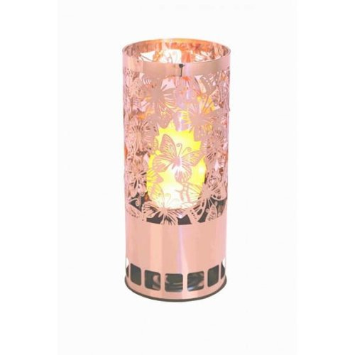 Silk Flame Effect Lamp - Round BUTTERFLY BRAZIER in Copper