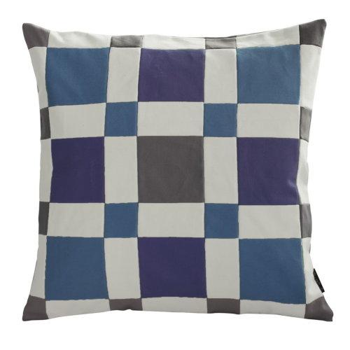 [Symmetric Figure] Handmade Canvas Decorative Pillow Unique Grid Cushion 48cm