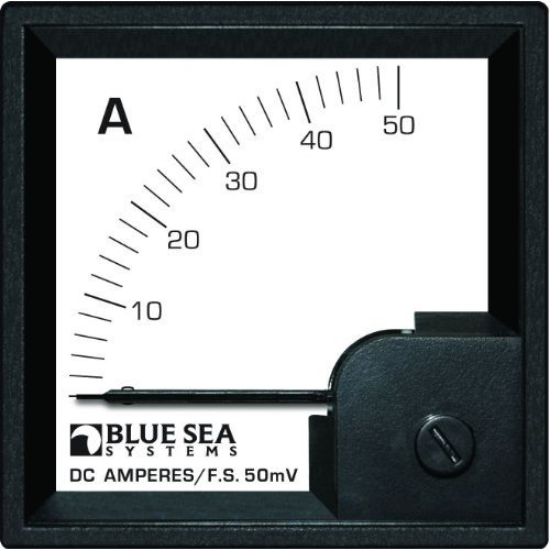 Blue Sea Systems 0-50A DC DIN Ammeter with Shunt