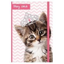 2018 Chunky A6 Diary Day Per Page To View Kittens Christmas Birthday Gift Cats Hardback DTV