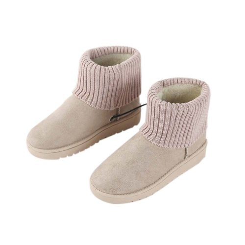 [Khaki] Heating Shoes Warm USB Electric Heated Boots usb Foot Warmer for Winter 24cm