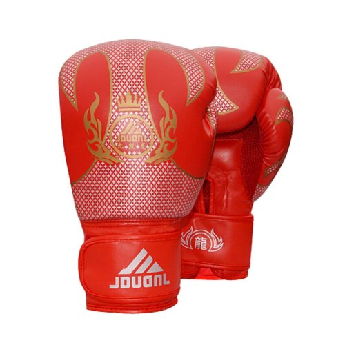 Comfortable Adult Boxing Gloves Training Gloves RED, 10 Ounce