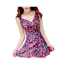 Colorful Hot Springs Bathing Suit/Female Skirt Swimming Apparel