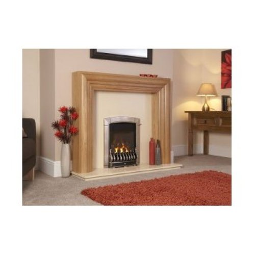 Designer Fire -Flavel FHEC3JRN2 Caress HE Hearth Mounted Traditional Silver - RC