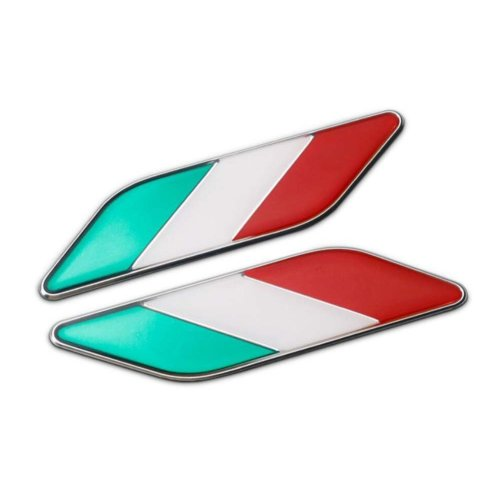 National Flag Design Metal Sticker Decal For Car Vehicle Decor 11.3 x 2.7 cm/4.4 x 1.06 inches - Italy