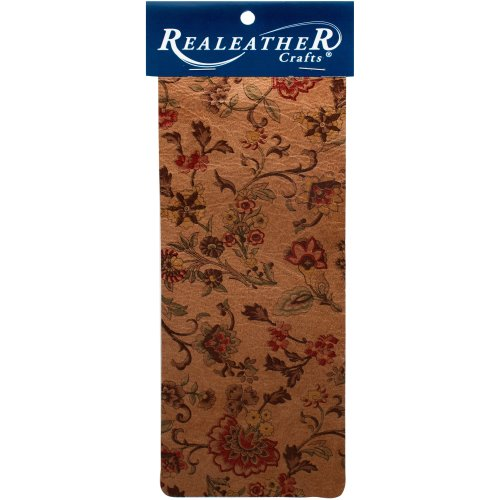 """Realeather Crafts Goat Leather Trim Piece 9""""X3""""-Marigold Natural"""