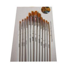 12 Pieces White Oil Painting Tools for Child/Mini Painting Brushes Sets