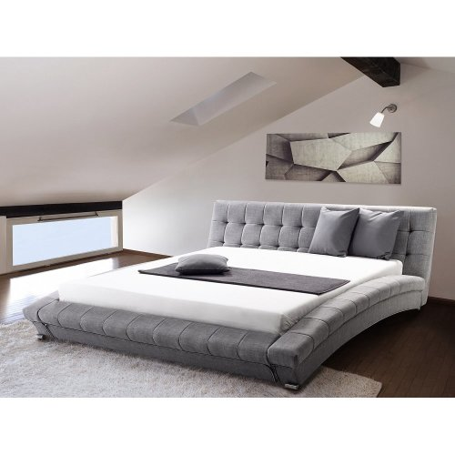 Water Bed -  King Size - Full Set - 5 ft  2 inch /160 x 200 cm - grey LILLE