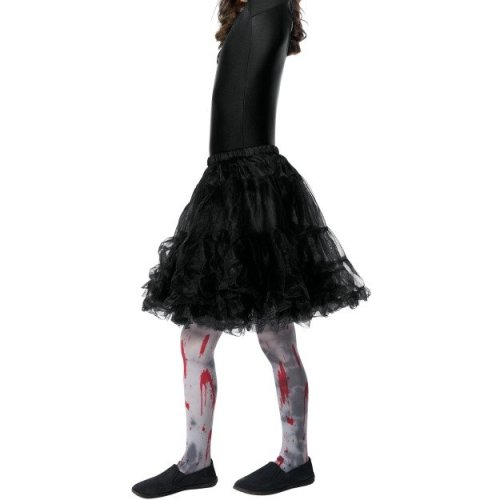 Smiffy's 48161 Zombie Dirt Child Tights (small/medium) -  kids tights halloween zombie girls fancy dress costume accessory grey dirty bloody childs