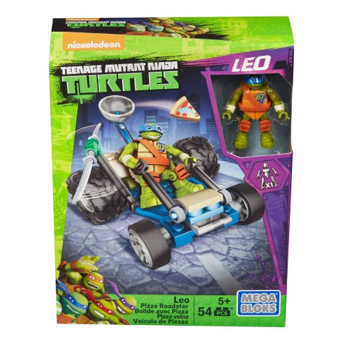 Mattel Mega DPF62, Mega Bloks: TMNT - Leo Pizza Roadster