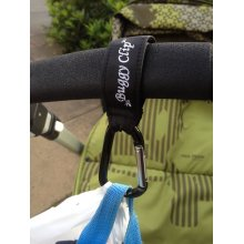 2x Small Buggy Clips Black