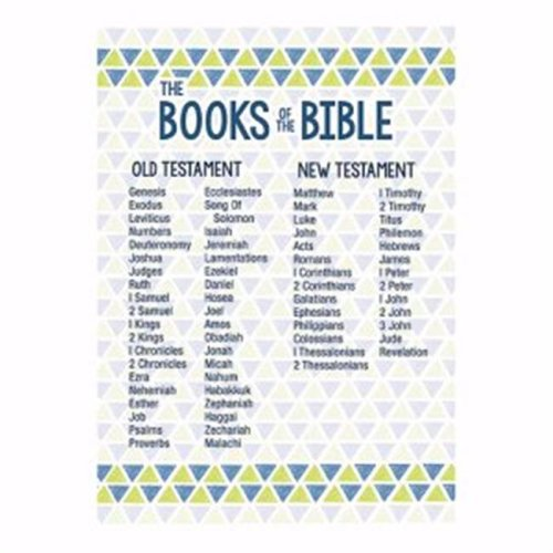 CB Gift 163862 13.5 x 19 in. Large Poster - Books of the Bible