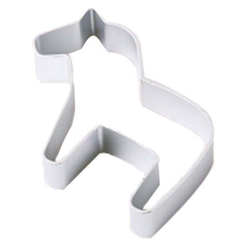 3 Pcs DIY Aluminum Horse Pattern Baking Mold Cookies Cut