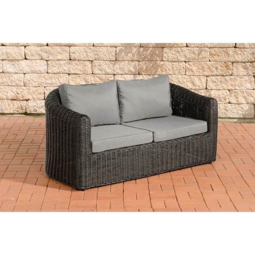 2 seater sofa Bergen iron gray 5mm