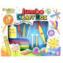 Kreative Kids Childrens Jumbo Craft Box 300 Piece Activity Set