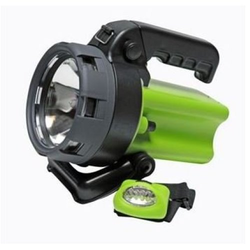 smart gear cordless road spotlight with bonus led headlamp