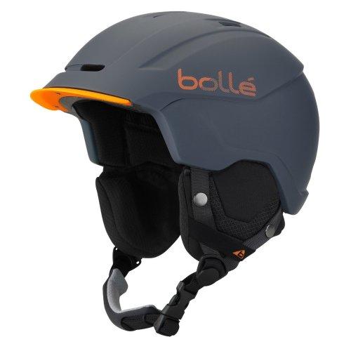Bolle Instinct Snow Helmet - Soft Grey / Orange-54-58cm