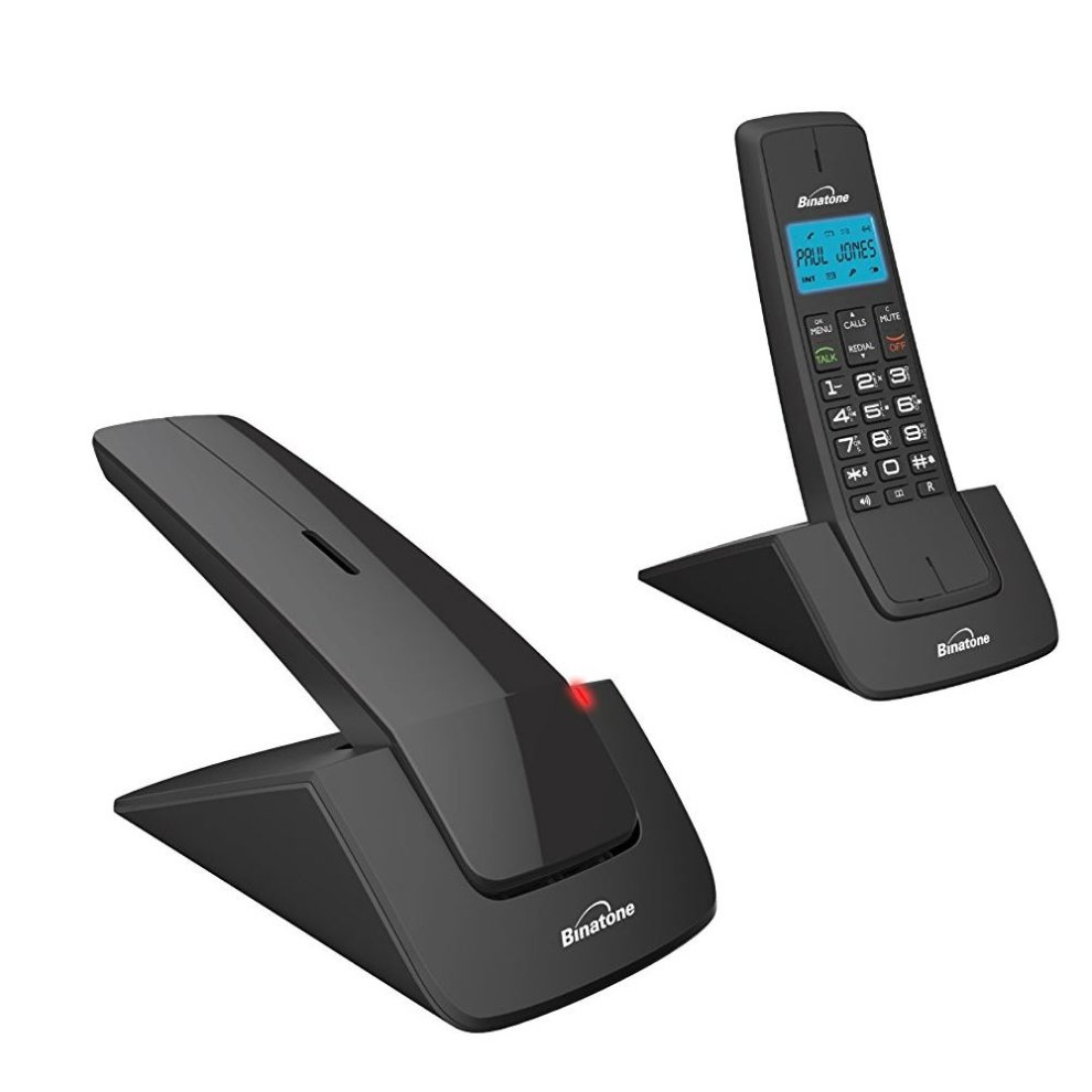 Binatone Designer 2115 Lcd Twin Cordless Dect Tam Telephone Black