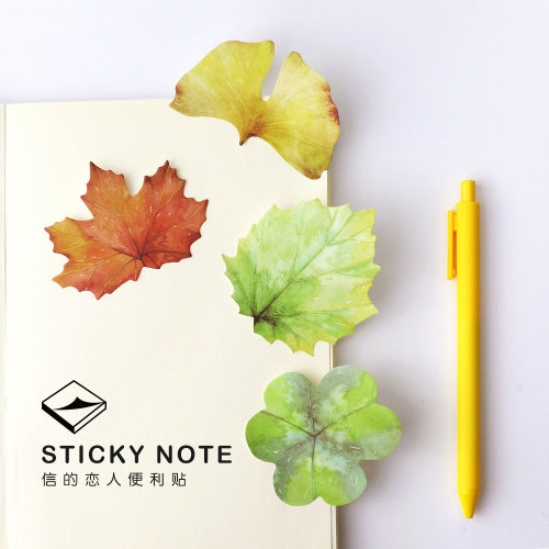 Leaf Shaped Sticky Notes (A Set of 4 Designs)