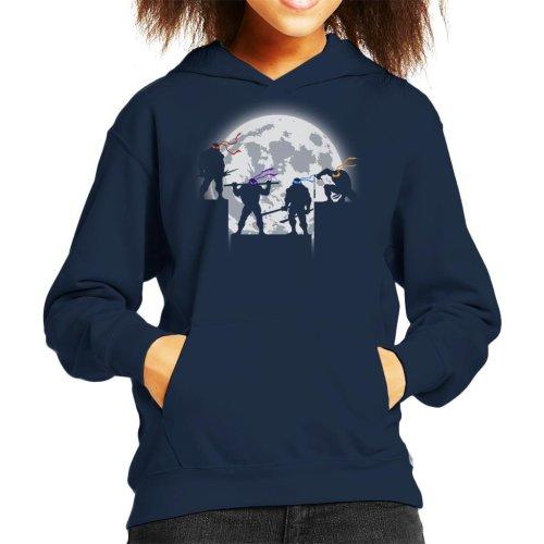 Teenage Mutant Ninja Turtles Night Shadows Silhouette Kid's Hooded Sweatshirt