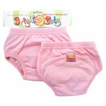 Bright Bots 2pk Washable Training Pants P/Pink