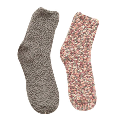 2 Pairs Soft Fuzzy Sleeping Socks Slipper Socks Winter Casual Floor Socks-A3