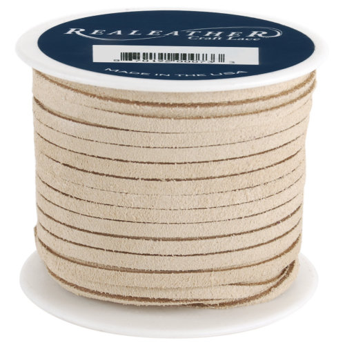 """Realeather Crafts Suede Lace .125""""X25yd Spool-Beige"""