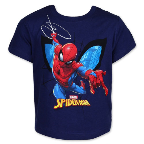 Boys Spiderman T-shirt Short Sleeve Top Cotton