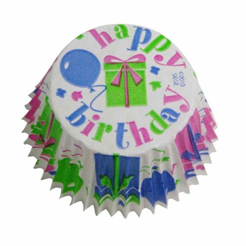 Cupcake Creations Greaseproof Cake Cases, Pack of 32, Happy Birthday