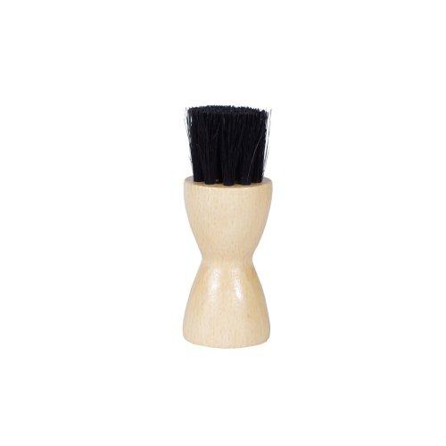 Kaps Shoe Polish Applicator Brush - Wooden Handle Dauber Brush - 100% Authentic Horsehair Bristle Brush -Perfect For Applying Oil And Polish - Small