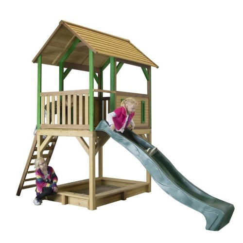 AXI Playhouse with Ladder Slide Sandpit Pumba Wood A030.215.00