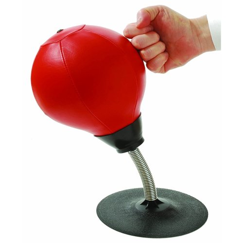 Desktop Punching Bag/Ball Stress Buster, Stress Relieve, with Strong Suction Cup, Pump Equipped, Designed for Work
