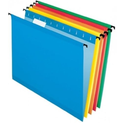 Pendaflex 6154 1-5 ASST Reinforced Hanging Folders, Pack Of 6