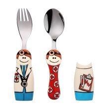 Eat4Fun Duos Boy Doctor Children's Cutlery Set