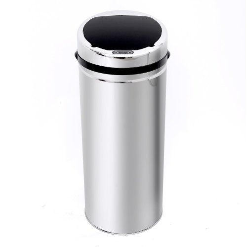 Homcom 50l Sensor Dustbin Kitchen Stainless Steel with Bucket