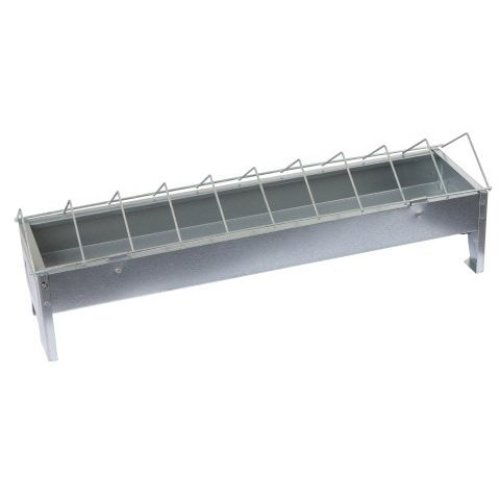 Kerbl 71301 Feeding Trough for Poultry Galvanised Length 50 cm Width 10 cm