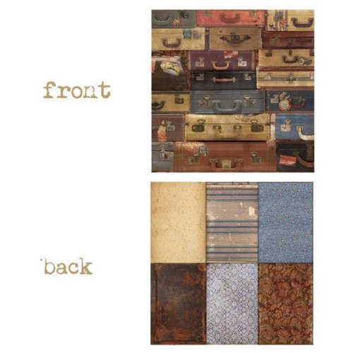 Canvas 7g19560 12 x 12 in. Pack Your Bags Wanderlust 2 Sided Cardstock Paper