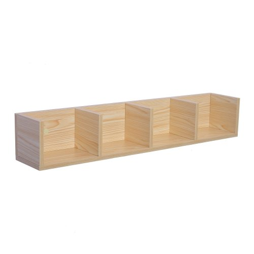 Homcom Modern 60 Cd / Dvd Media Storage Rack 4 Cubes Bookcase Display