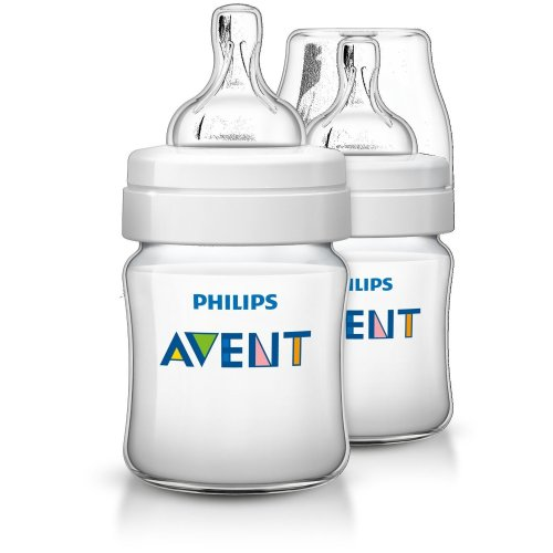 Philips Avent  Classic+ Feeding Anti-colic Bottle 125ml/4oz Twin Scf560/27