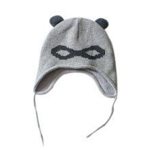 Warm Hat Knitted Hat Plus Velvet Ear Protection Hat Zorro Jacquard Pattern