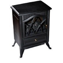 Homcom 1850w Log Burning Flame Effect Stove Heating Electric Fireplace Fan