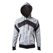 Sony Playstation Adult Controllers Sublimation Zipper Hoodie XXL - White/Black