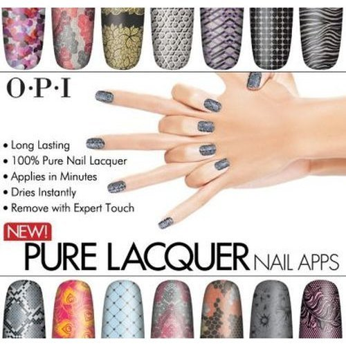 OPI 100% Pure Nail Lacquer Apps