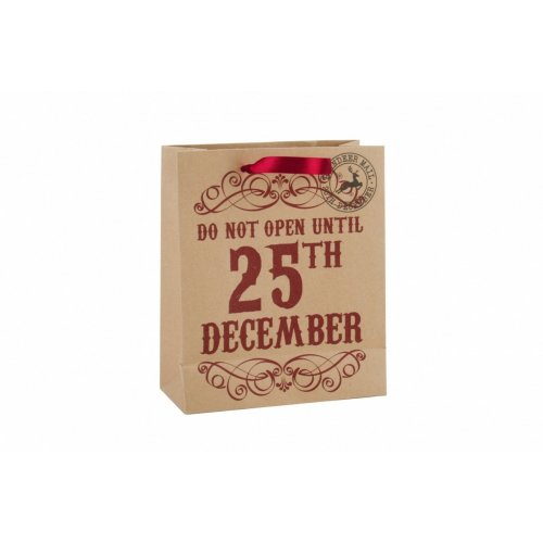 CGB Giftware Do Not Open Until 25th December Christmas Gift Bag